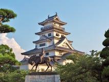Imabari城堡在Imabari,日本 免版税库存图片