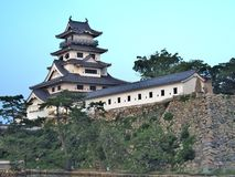 Imabarikasteel in Imabari, Ehime-Prefectuur, Japan stock afbeelding