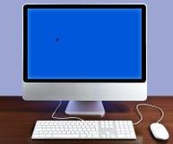IMac Blau stockbilder