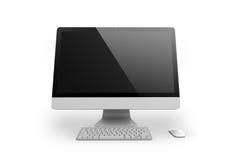 Imac desktop computer. Apple Imac ideal for mockup, represent your creative idea on big dsktop screen vector illustration