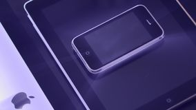 iMac iPad i iPhone 3gs smartphone jeden nad inny zbiory