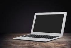 Imac. Laptop macbook mac pro macintosh background Stock Photo
