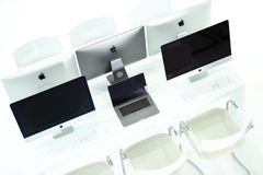 Imac Imac Pro und macbook Pro lizenzfreies stockfoto