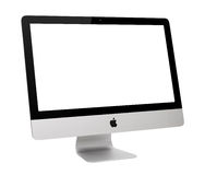 IMac. UFA, RUSSIA - MAY 7 , 2014: Photo of new iMac, With OS X Yosemite. iMac - monoblock series of personal computers, created by Apple Inc Stock Images