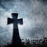 Imacross w cmentarzu, Halloween tło ilustracji