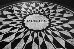 Imagínese el mosaico en el Central Park Imágenes de archivo libres de regalías