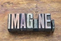 Imagínese la madera de la palabra fotos de archivo