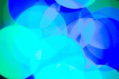Imag de alta resolución de puntos borrosos coloreados en fondo oscuro Fotografía de archivo