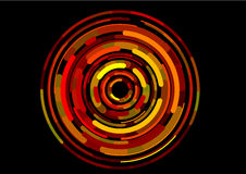Imag digitale rosso di giro rapido virtuale Immagini Stock