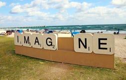 Imag_ne-Skulptur Lizenzfreies Stockfoto
