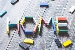 Image à la maison d'alphabet Photos stock
