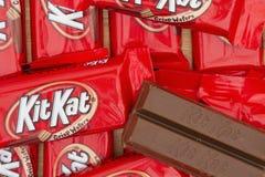 Image éditoriale de fond de barre de bonbons au chocolat à KitKat Image libre de droits