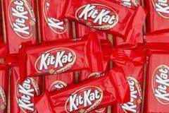 Image éditoriale de fond de barre de bonbons au chocolat à KitKat Images stock