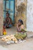 Image éditoriale documentaire, pauvreté dans l'Inde de rue photographie stock libre de droits