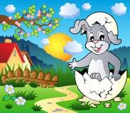 Image 3 de thème de lapin de Pâques illustration libre de droits