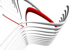 image 3D des lignes rouges et grises Image stock
