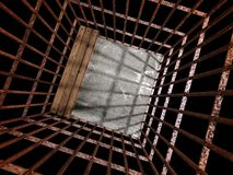 Image 3d of metal jail royalty free stock photos