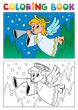 Image 4 de thème d'ange de livre de coloriage Images libres de droits