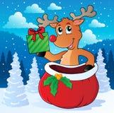 Image 7 de thème de renne Image stock