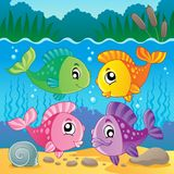 Image 7 de thème de poissons d'eau douce Photo libre de droits