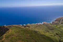 Image aérienne d'Oahu côtier Hawaï Images libres de droits