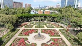 Image aérienne d'une roseraie à un parc photo libre de droits