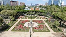 Image aérienne d'une roseraie à un parc photo stock