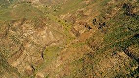 image aérienne de bourdon de belle vue renversante de paysage outre du point de vue de Degollada de La Yegua avec une vallée avec photo stock