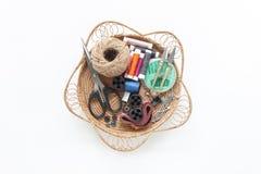 Image aérienne de configuration plate des articles de couturier photos stock