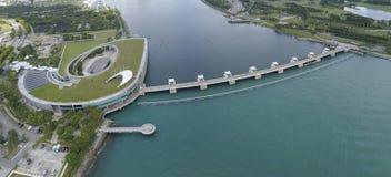 Image aérienne de Marina Barrage images stock