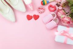 Image aérienne de vue supérieure des vacances heureuses de jour de mères de décorations Photographie stock