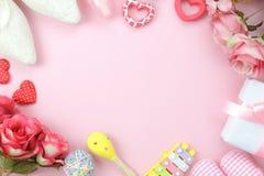 Image aérienne de vue supérieure de fond heureux de vacances de jour de mères de décoration Photos libres de droits