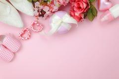 Image aérienne de vue supérieure de fond heureux de vacances de jour de mères de décoration Photos stock
