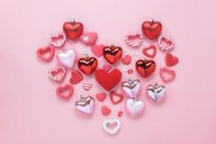 Image aérienne de vue supérieure de Tableau de concept de fond de jour de valentines de signe Image stock