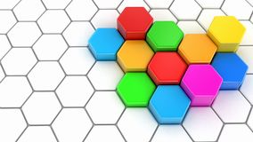 Abstract 3D hexagonal background Stock Images