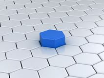 Abstract 3D hexagonal background Royalty Free Stock Photos