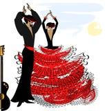 Image of abstract flamenco couple Stock Photos