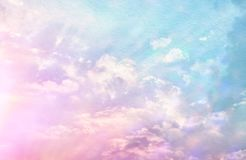 Image of abstract pastel clouds and sky with texture. Image of abstract pastel clouds and sky with texture Royalty Free Stock Image