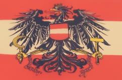 Image abstraite d'un fragment d'un drapeau du pays européen Image libre de droits