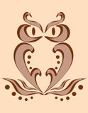 Image abstraite d'un hibou Image stock