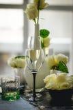 Image abstraite d'une glace de vin Image stock