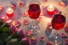 Image abstraite d'une glace de vin Photo libre de droits