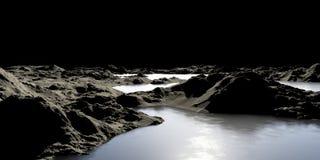 Image abstraite d'une planète avec de l'eau. Illustration de Vecteur