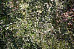 Image abstraite d'une surface criquée III de l'eau Images libres de droits