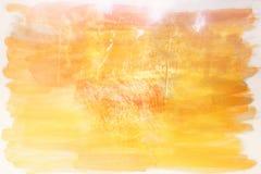 Image abstraite de double exposition de texture de forêt et d'aquarelle Photos stock