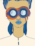 Image abstraite de fille Image libre de droits