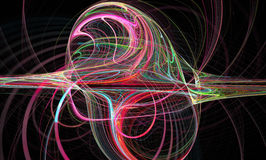 Image abstraite de fractale wallpaper Illustration numérique créative image libre de droits