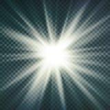 Image abstraite de fusée d'éclairage Effet de la lumière de lueur D'isolement sur le fond transparent Illustration de vecteur illustration stock