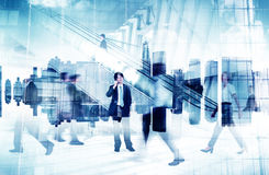 Image abstraite de la vie occupée des hommes d'affaires Image stock