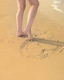 image abstraite de pied de retrait Photographie stock